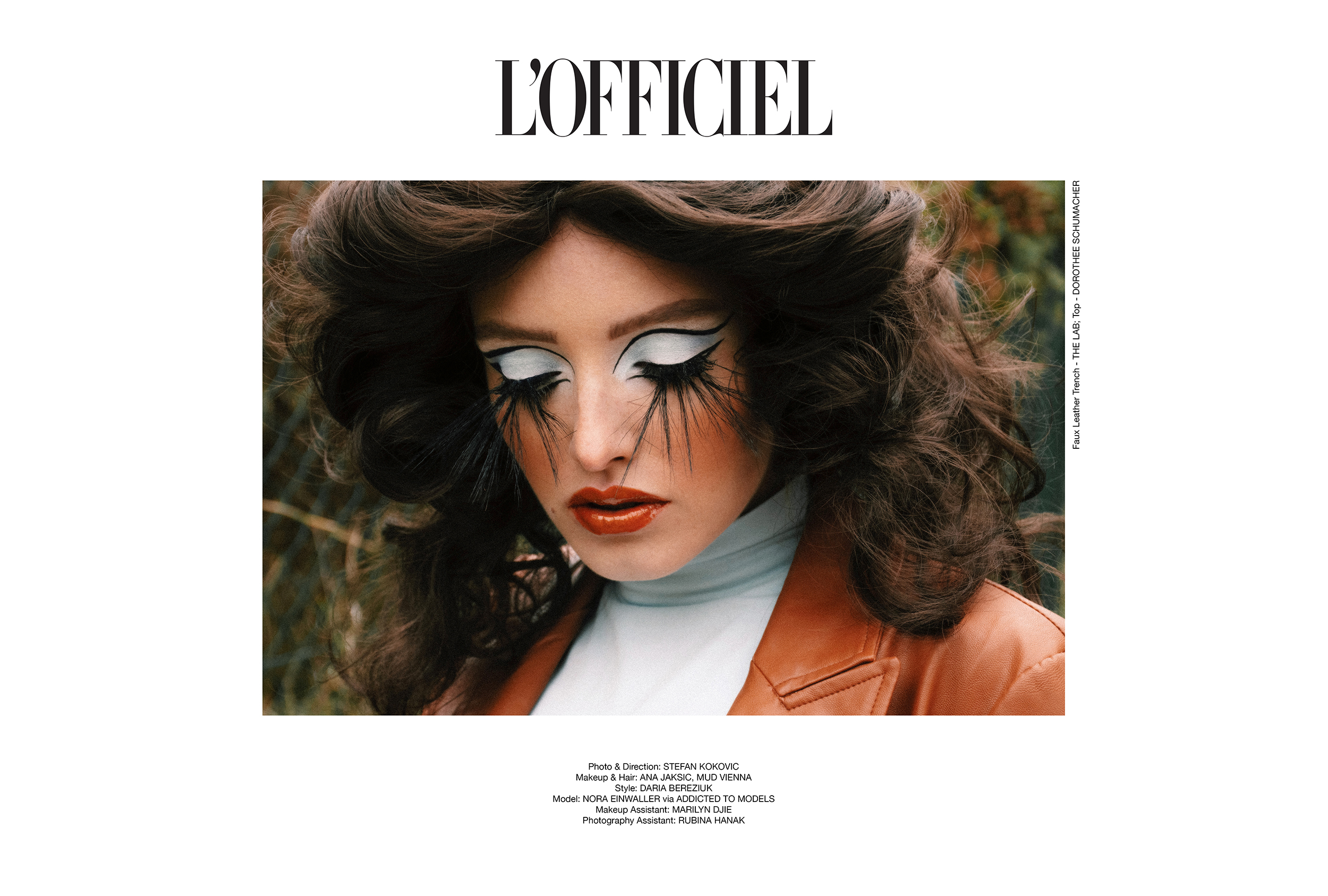 Fashion Editorial for L'Officiel Magazine stefan kokovic photographer